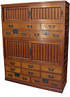 Japanese Choba Dansu Merchant Chest 2 Section