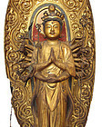 Antique Large Japanese Wooden Senju Kannon Buddha