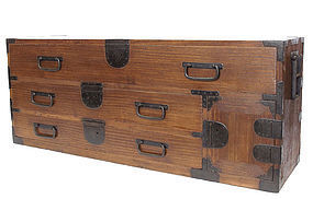 Antique Japanese Katana Tansu Sword Chest Furniture