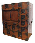 Antique Japanese Choba Tansu Merchant Chest
