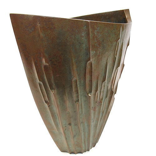 Japanese Bronze Flower Vase