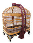 Japanese Lacquer Bamboo Mushi Kago Insect Cage