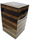 Vintage Japanese Urushi Lacquer Stacking Box Jubako