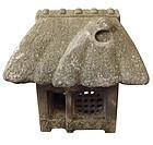 Vintage Japanese Stone Farm House Garden Lantern