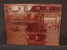 Antique Japanese Make-up Box Kesho Bako