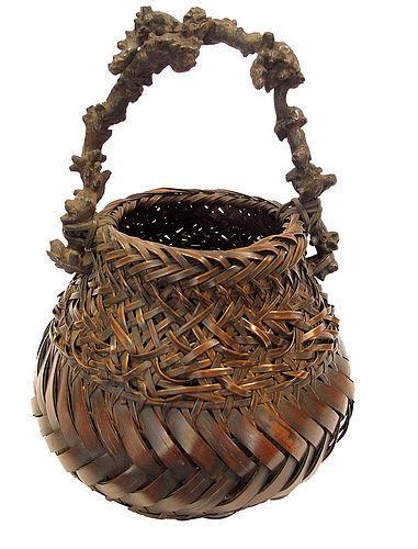 Vintage Japanese Basket Hana Kago