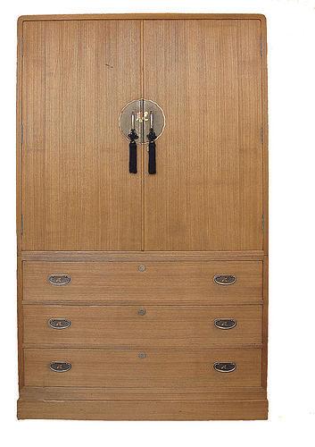 Vintage Japanese Kamo Kimono Tansu with Secret Compartments