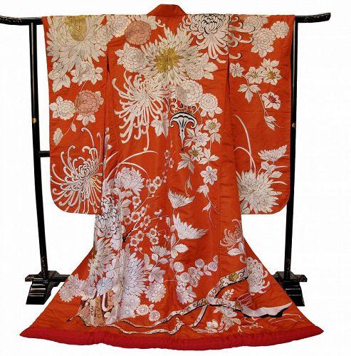 Japanese Wedding Kimono Uchikake Chrysanthemum