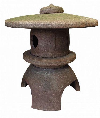 Vintage Japanese Pottery Lantern for Garden Yukimi Toro