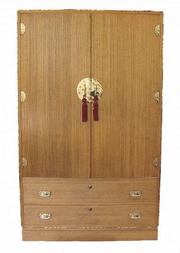 SALE Japanese 2 Section Kamo Kimono Tansu Clothing Chest Furniture