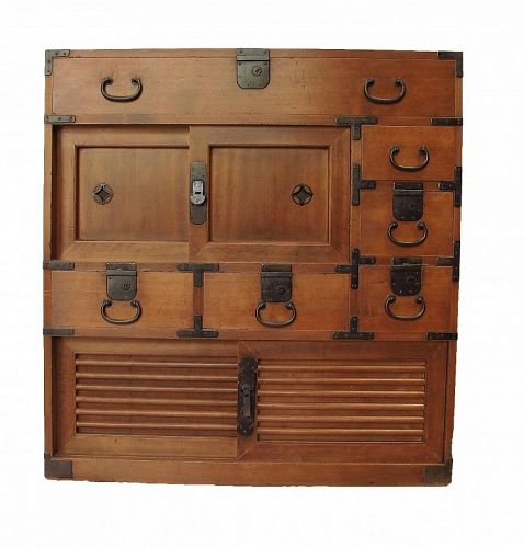 SALE Antique Japanese Choba Tansu with Secret Compartments