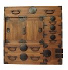 SALE Antique Japanese Choba Tansu Merchant Chest w/ Secret Compartment