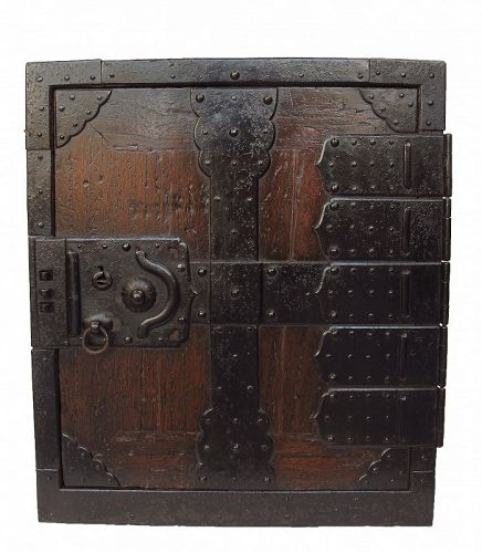 Antique Rare Japanese Merchant Captain's Ship Chest Funa Tansu