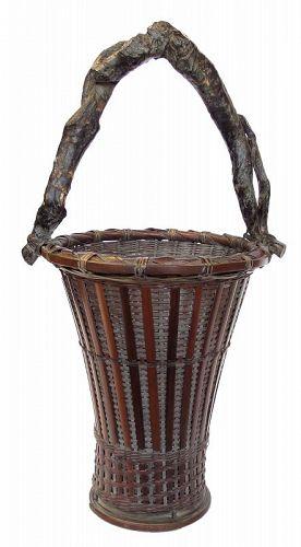 Vintage Japanese Basket Hanakago