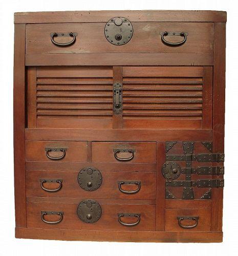 Antique Japanese Choba Tansu Merchant Chest Furniture