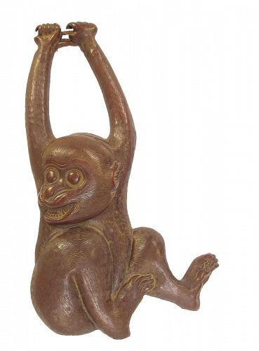 Antique Japanese Bronze Monkey Saru Decoration