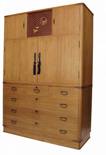 Vintage Japanese Kamo Kimono Tansu with Secret Compartments