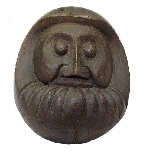 Antique Japanese Wooden Daruma Mold