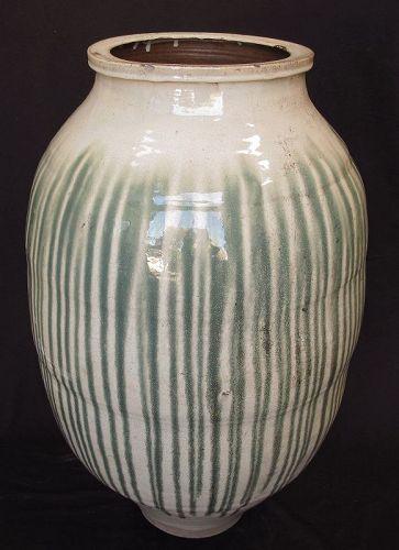 Vintage Japanese Large Shigaraki Melon Jar