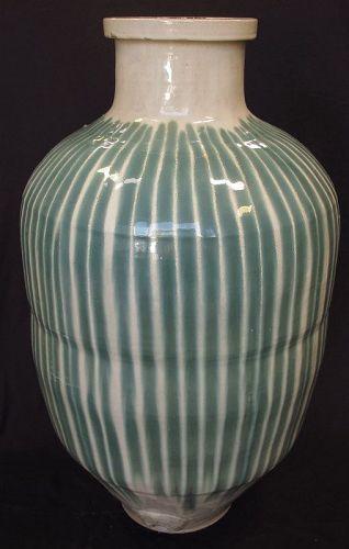 Vintage Japanese Shigaraki Melon Jar