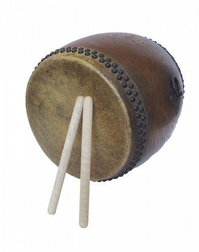 Vintage Japanese Wooden Taiko Drum Musical Instrument Miyamoto