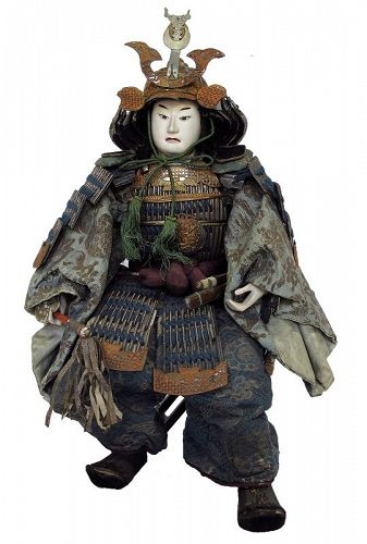 Antique Japanese Musha Ningyo Samurai Doll