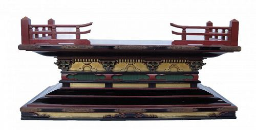 Vintage Japanese Buddhist Altar Shrine Stand