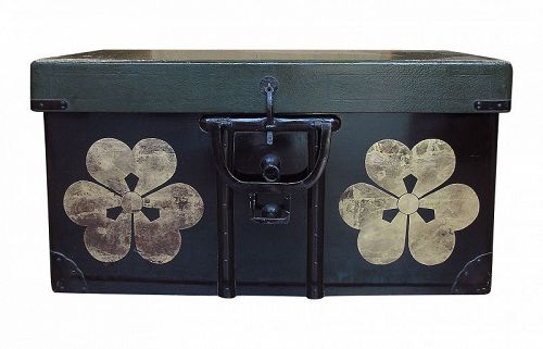 Vintage Japanese Lacquer Storage Trunk Tansu Chest