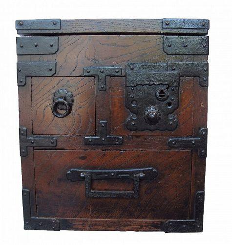 Antique Japanese Merchant Writing Box Suzuri Bako