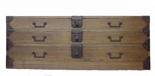 Antique Japanese Katana Tansu Sword Chest w/Secret Compartment