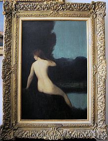 """Femme Assise"": Jean Jacques Henner"