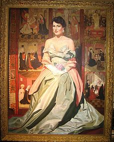 Portrait of Lady & Medieval Panel: Ivan Stoppe