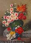 Floral Still Life: Max Albert Carlier