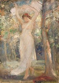 Nymph in Woodland: Robert Fowler