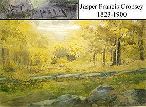 Hudson River Stream in Forest: Jasper Cropsey