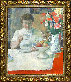 Young Woman at Breakfast: Francois Gall