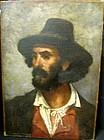 Portrait of Bearded Man: Frank Duveneck