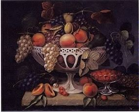 Still Life:Fruit in Creamware Compote: William H. Hoyt