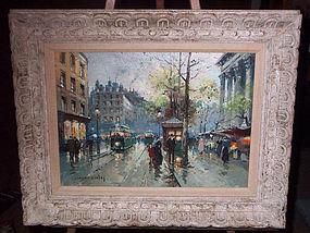 Paris:Madelaine Street Scene: Edouard Cortes