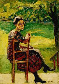 Kleine Portratskizze 1923: Oskar Kokoschka