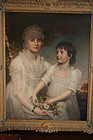 Portrait Mrs Hunt and Niece Mary Eltron:John Downman