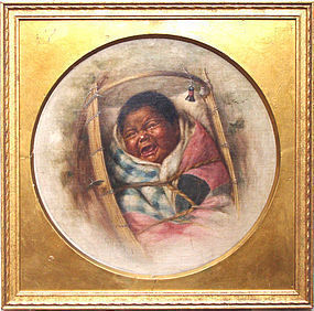 Indian Papoose in Cradle: Grace Carpenter Hudson