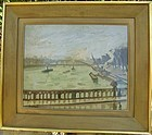 Paris Bridge over Seine: Louis Robert Antral