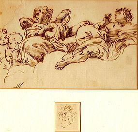 17th C Angels in Clouds: Giovanni Battista Gaulli