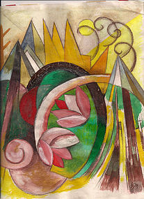 Composition of Pure Abstract Forms 1914: Franz Marc