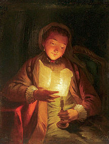Portrait of Girl in Candlelight: Godfried Schalcken