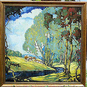 Old Lyme Landscape by Guy C. Wiggins