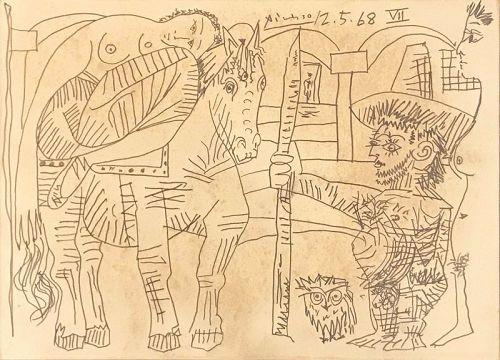 Le Depart de La Shuminite by Pablo Picasso, 1968