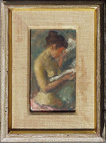 Nude Reading the Newspaper by Robert Philipp