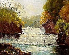 River Waterfall in Autumn by: Marion Wachtel